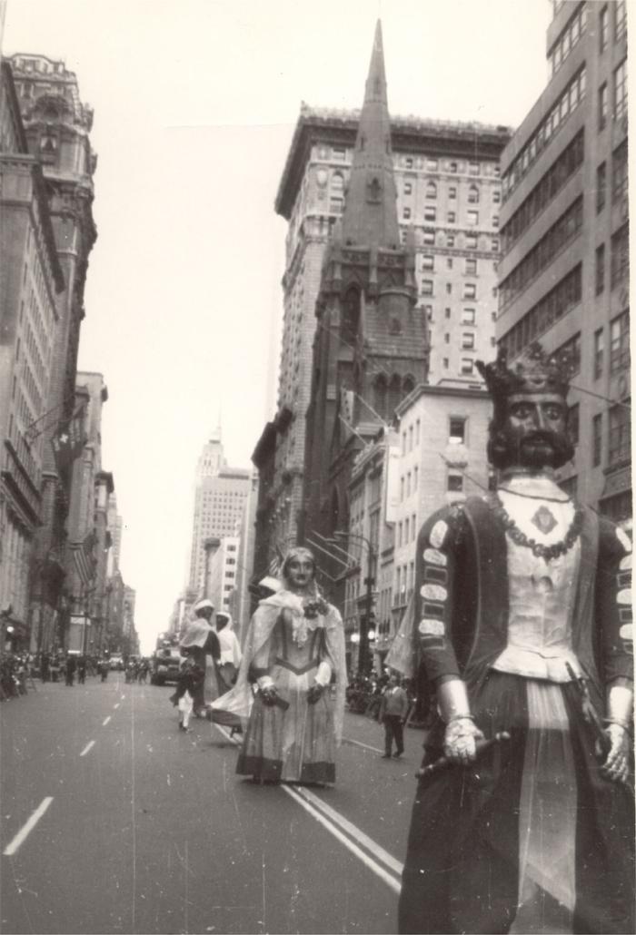 Desfile de gigantes de Iruña en las calles de Nueva York