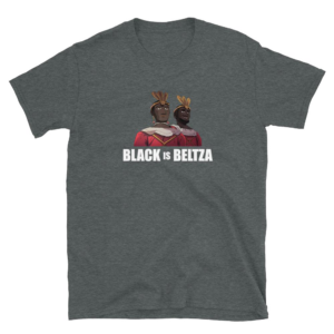 Camiseta Black is Beltza erraldoiak gris oscura
