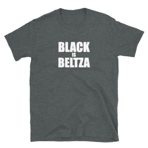 Camiseta Black is Beltza letras gris