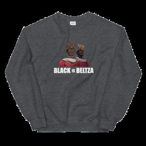 Sudadera Black is Beltza erraldoiak gris
